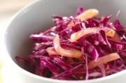 紫キャベツのたくあんサラダ