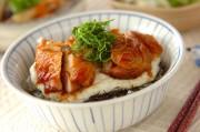 鶏の照り焼き大和芋丼