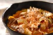 白菜漬けと豚肉の炒めもの