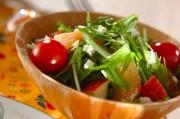 シャキシャキ水菜のサラダ