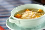 ポーチドエッグのスープ