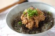 梅納豆とキュウリのサッパリご飯