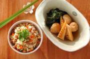 鶏団子とタケノコの煮物の献立
