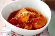 新ジャガのトマト煮