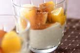 果物とヨーグルト