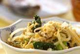 モヤシと青菜の卵とじ