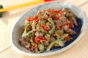 牛肉とゴーヤのマヨ炒め