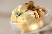 甘納豆とバルサミコ酢のバニラアイス