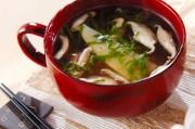 薄切りタケノコのスープ