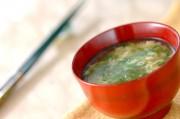 インゲンの卵スープ