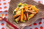 豚肉と柿の炒め物