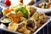 いろいろキノコの天ぷら