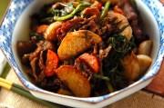 里芋と牛肉の炒め物