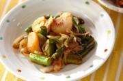 アスパラとホタテの炒め物