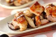 鶏肉とシイタケのシンプルピリ辛炒め