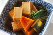 カボチャと厚揚げの簡単煮