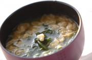 ホウレン草と菊菜のみそ汁