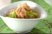 鮭缶とセロリの酢の物