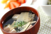 タケノコと豆腐のお吸い物