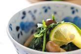 菊菜とミツバのお浸し