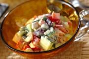 野菜と豆のヨーグルトサラダ