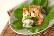 海鮮バジルサラダ