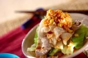 春キャベツと薄切り豚肉の中華和え