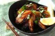 鶏手羽先のエスニック焼き
