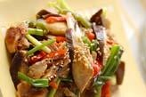 豚肉と米ナスのゴマ炒め