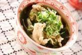 ササミの麺スープ