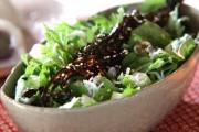 水菜と佃煮昆布の和風サラダ