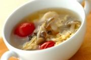 プチトマトとキノコの卵スープ