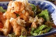 揚げ鶏・ネギソース(油淋鶏風)