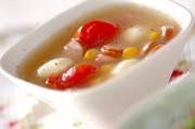 チーズ入り彩りスープ