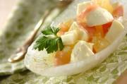 モッツァレラとグレープフルーツのサラダ
