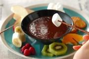 いろいろフルーツの簡単チョコレートフォンデュ