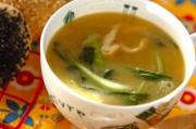 チンゲンサイ入りコーンスープ