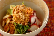 タコの納豆サラダ