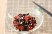 パプリカ・ヒジキ・ジャコのワサビ風味サラダ