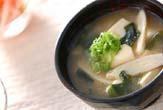 豆腐と新ゴボウのみそ汁