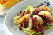 カツオたたきとグレープフルーツのサラダ仕立て