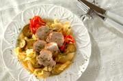 豚ヒレ肉とキャベツの白ワイン蒸し