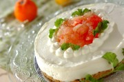 グレープフルーツのレアチーズケーキ