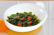 小松菜とニンジンのだし煮