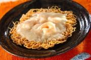 プリプリエビのあんかけ素麺