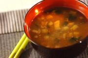 納豆の麦みそ汁
