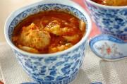 鶏団子のキムチスープ