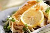 白身魚のレモン蒸し