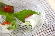 刺身の梅肉巻き