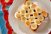 チョコとバナナのマシュマロトースト